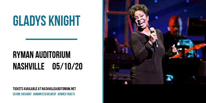 Gladys Knight at Ryman Auditorium