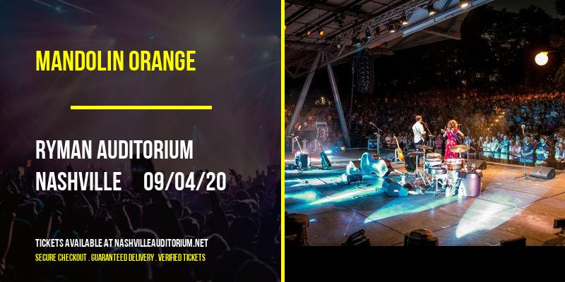 Mandolin Orange at Ryman Auditorium