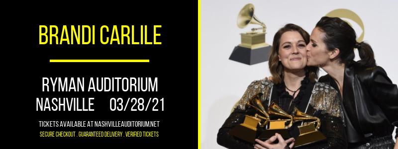 Brandi Carlile at Ryman Auditorium
