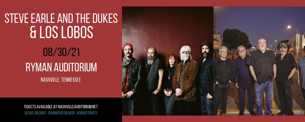 Steve Earle and The Dukes & Los Lobos at Ryman Auditorium