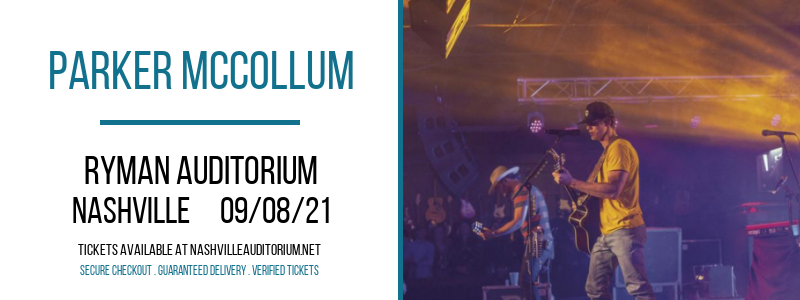 Parker McCollum at Ryman Auditorium