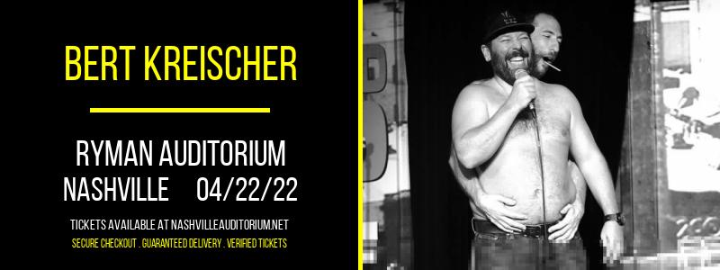 Bert Kreischer at Ryman Auditorium