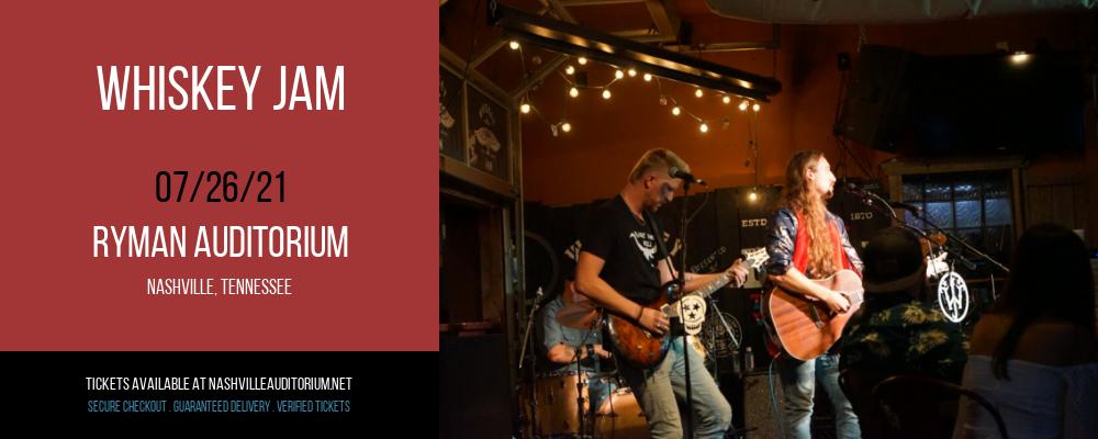 Whiskey Jam at Ryman Auditorium