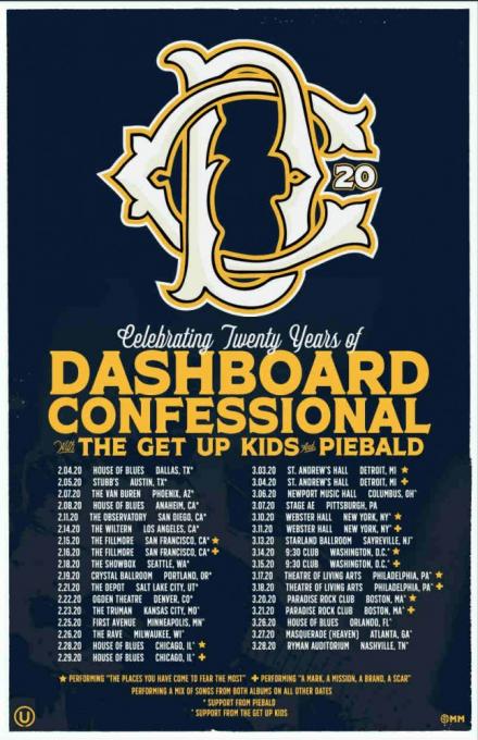 Dashboard Confessional at Ryman Auditorium