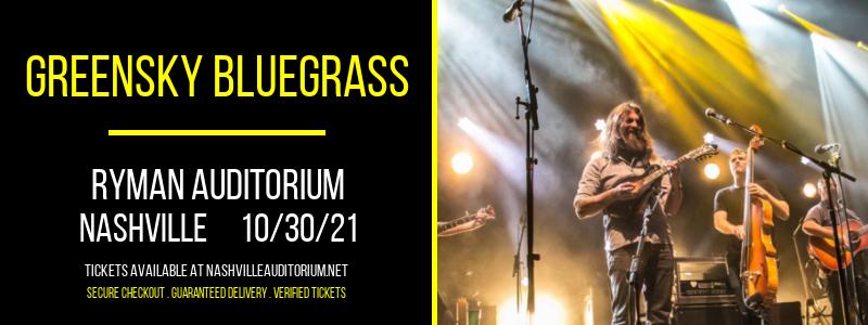 Greensky Bluegrass at Ryman Auditorium