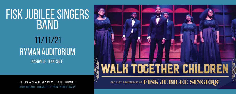 Fisk Jubilee Singers - Band at Ryman Auditorium
