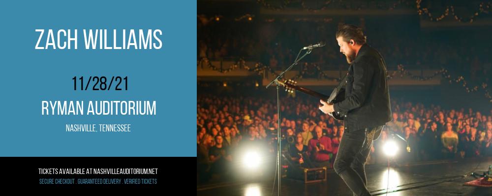 Zach Williams at Ryman Auditorium