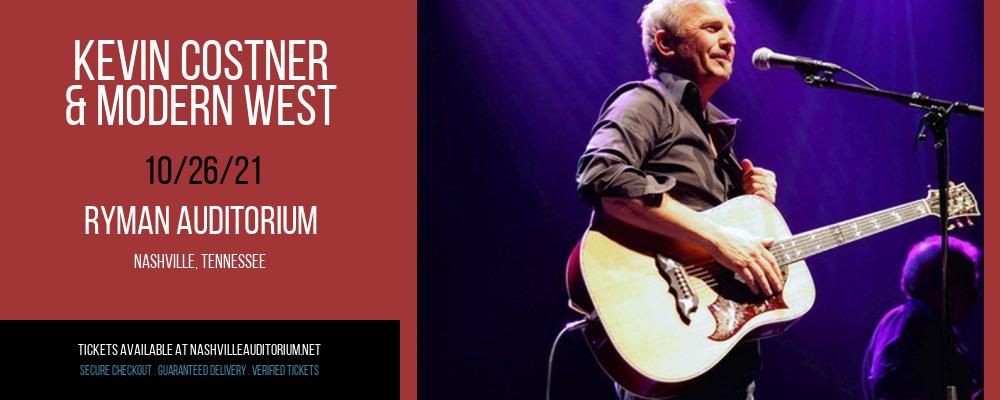 Kevin Costner & Modern West at Ryman Auditorium