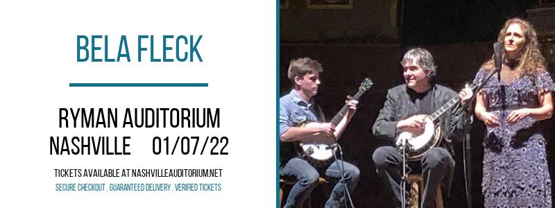 Bela Fleck at Ryman Auditorium
