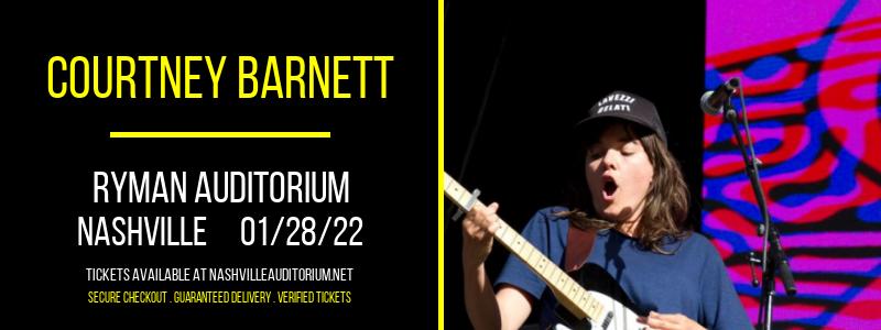 Courtney Barnett at Ryman Auditorium