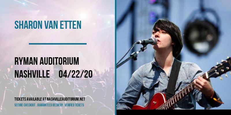 Sharon Van Etten [CANCELLED] at Ryman Auditorium