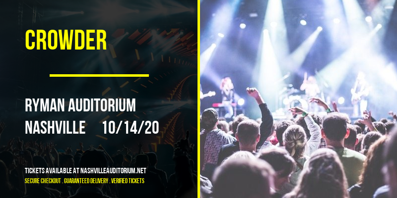 Crowder [CANCELLED] at Ryman Auditorium