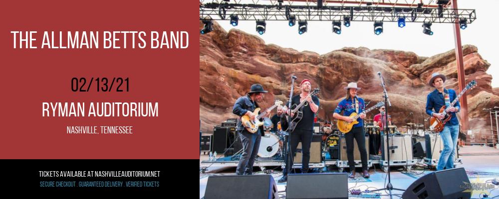 The Allman Betts Band at Ryman Auditorium