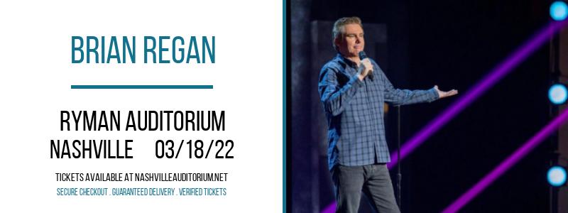 Brian Regan at Ryman Auditorium