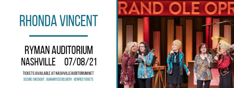 Rhonda Vincent at Ryman Auditorium