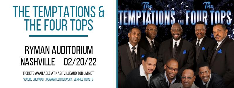 The Temptations & The Four Tops at Ryman Auditorium