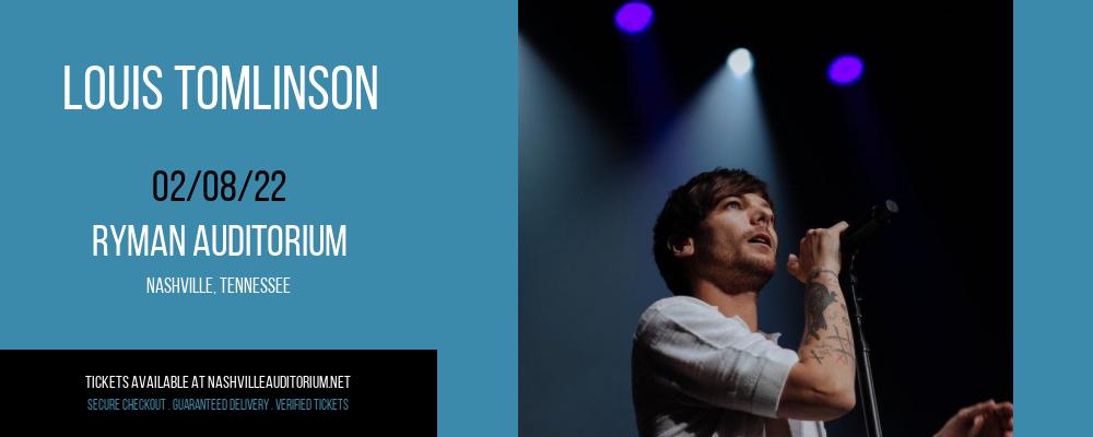 Louis Tomlinson at Ryman Auditorium