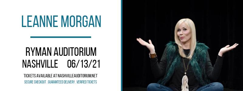 Leanne Morgan at Ryman Auditorium