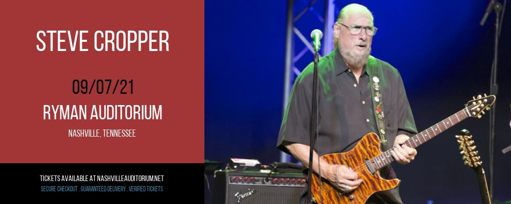 Steve Cropper at Ryman Auditorium