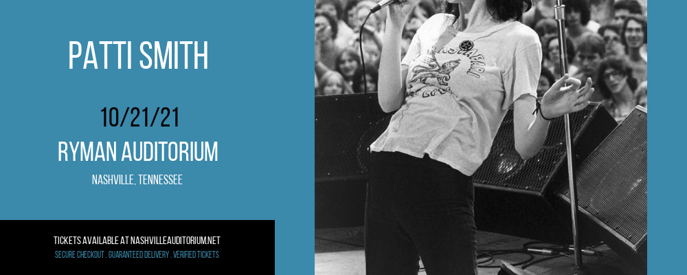 Patti Smith at Ryman Auditorium